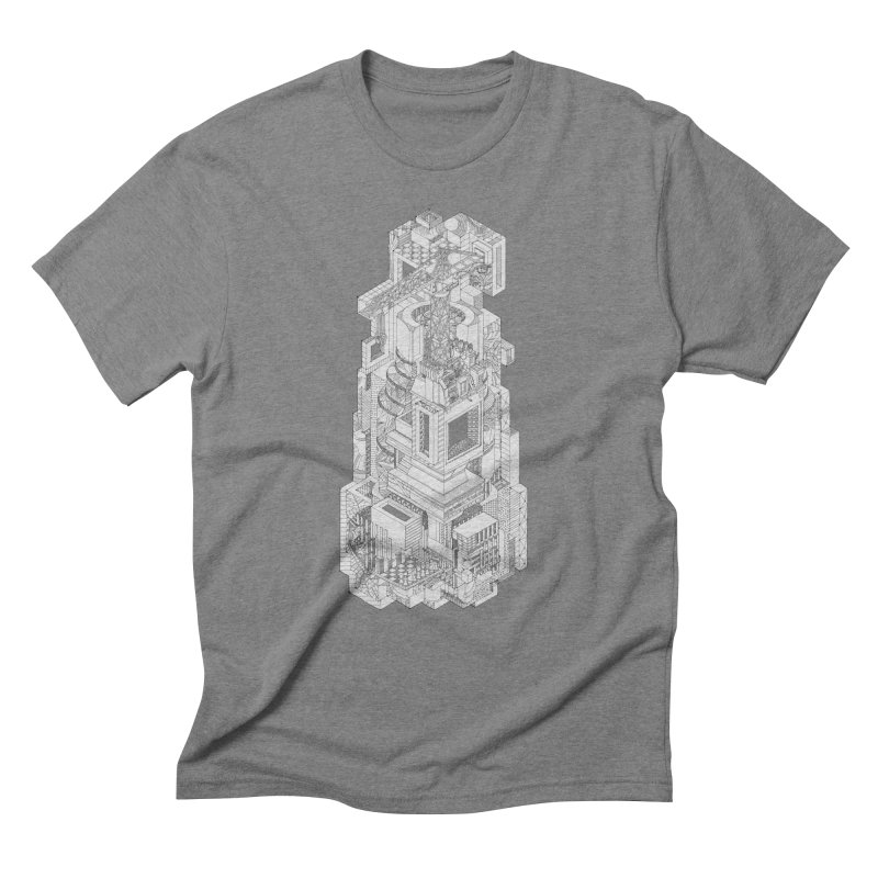 Deconstruction  in Men's Triblend T-shirt Grey Triblend by IVAN CASIS APPAREL SHOP