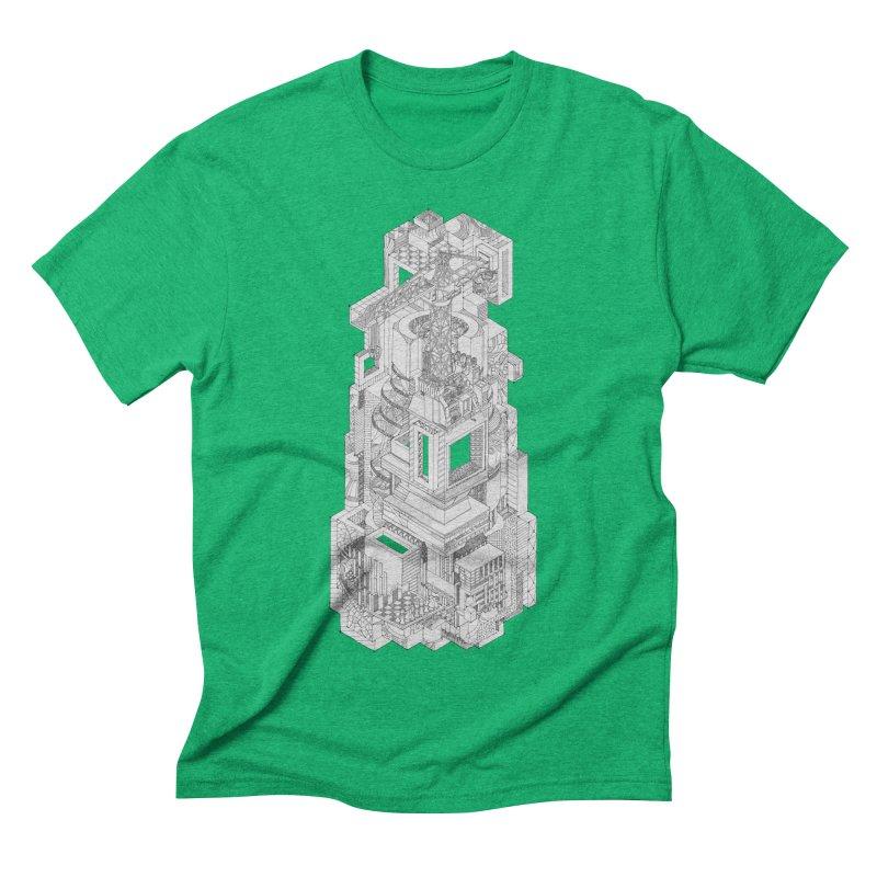 Deconstruction  Men's Triblend T-shirt by IVAN CASIS APPAREL SHOP