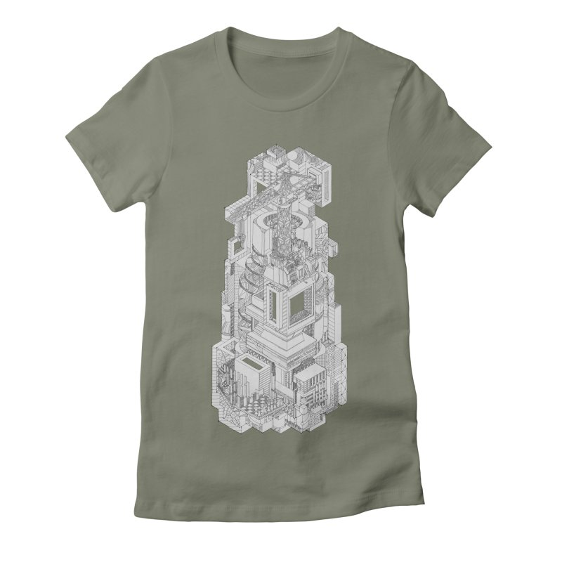 Deconstruction  Women's Fitted T-Shirt by IVAN CASIS APPAREL SHOP