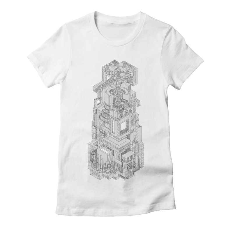 Deconstruction  Women's Fitted T-Shirt by IVAN CASIS APPAREL SHOP