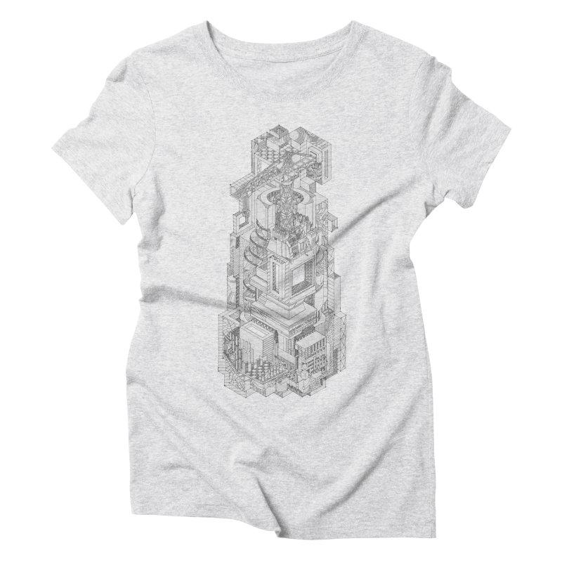 Deconstruction  Women's Triblend T-Shirt by IVAN CASIS APPAREL SHOP