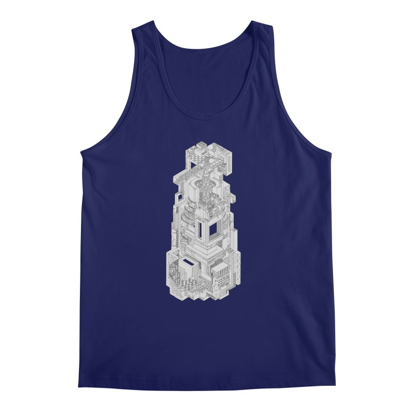 Deconstruction  Men's Tank by IVAN CASIS APPAREL SHOP