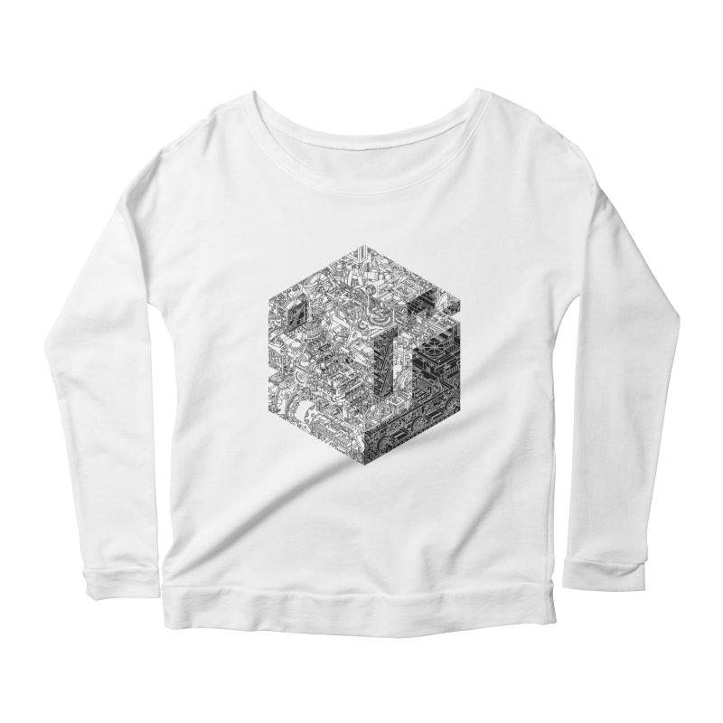 Mechanical Salad Women's Scoop Neck Longsleeve T-Shirt by IVAN CASIS APPAREL SHOP
