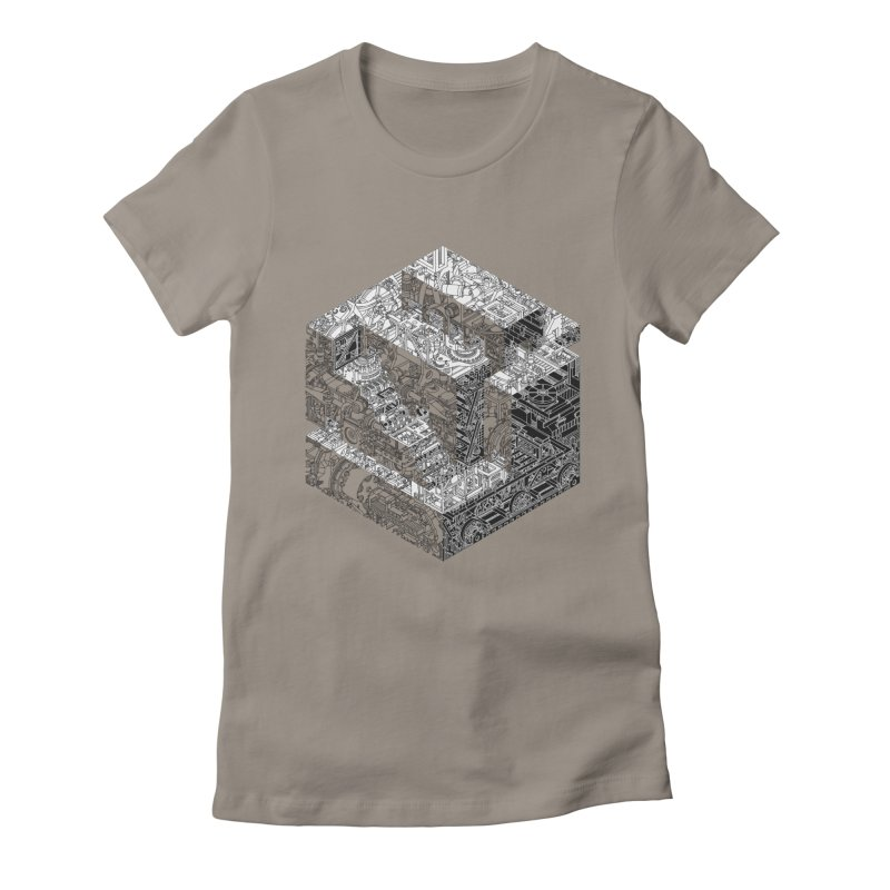 Mechanical Salad Women's Fitted T-Shirt by IVAN CASIS APPAREL SHOP
