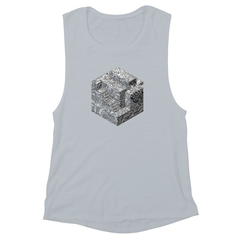 Mechanical Salad Women's Muscle Tank by IVAN CASIS APPAREL SHOP