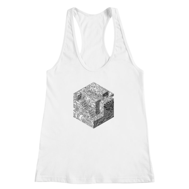 Mechanical Salad Women's Racerback Tank by IVAN CASIS APPAREL SHOP