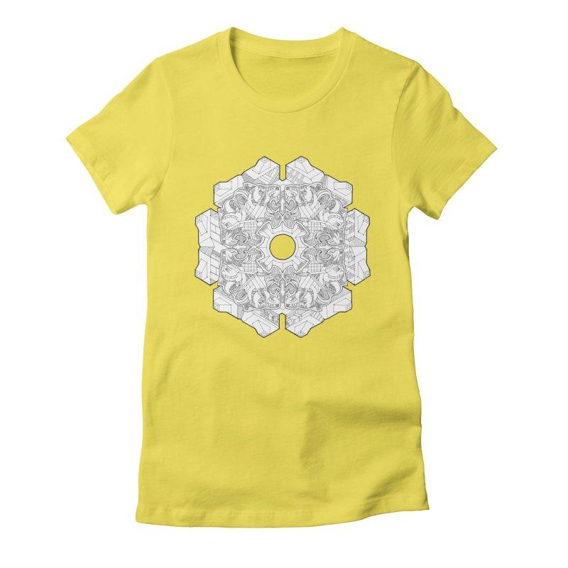Flor Felina Women's Fitted T-Shirt by IVAN CASIS APPAREL SHOP
