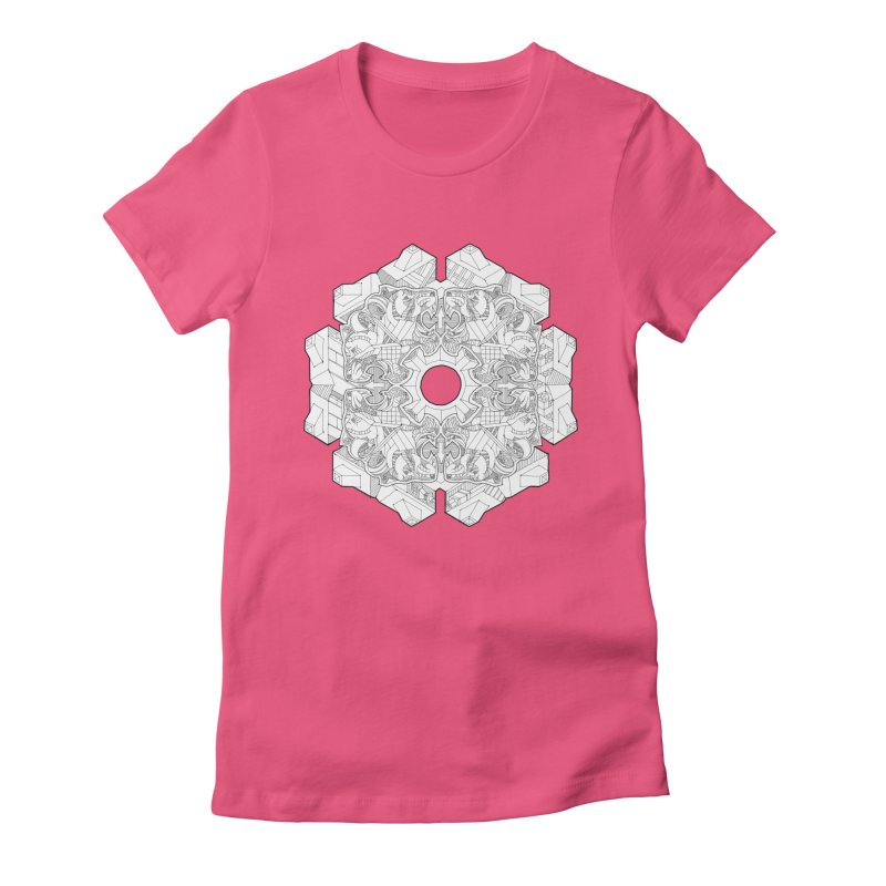 Flor Felina Women's Fitted T-Shirt by IVAN CASIS APPAREL SHOP
