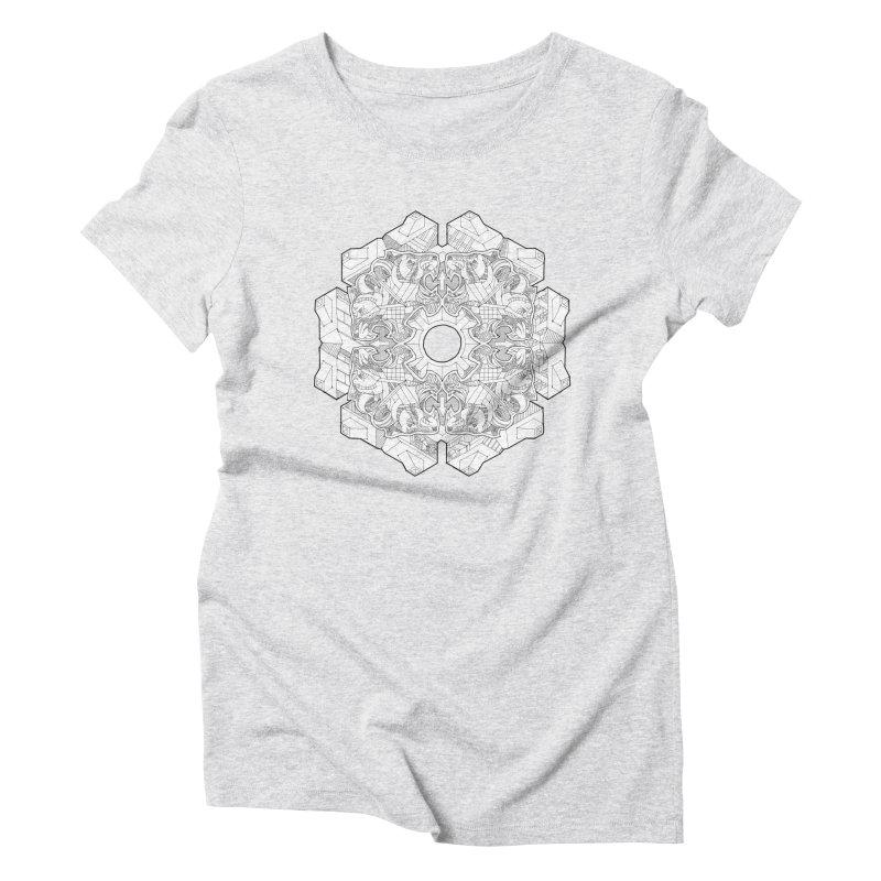 Flor Felina Women's Triblend T-Shirt by IVAN CASIS APPAREL SHOP