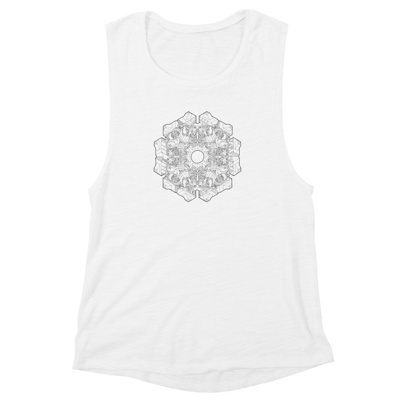 Flor Felina Women's Muscle Tank by IVAN CASIS APPAREL SHOP