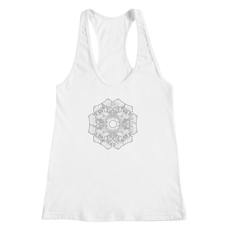 Flor Felina Women's Racerback Tank by IVAN CASIS APPAREL SHOP