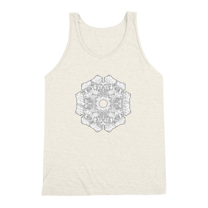 Flor Felina Men's Triblend Tank by IVAN CASIS APPAREL SHOP