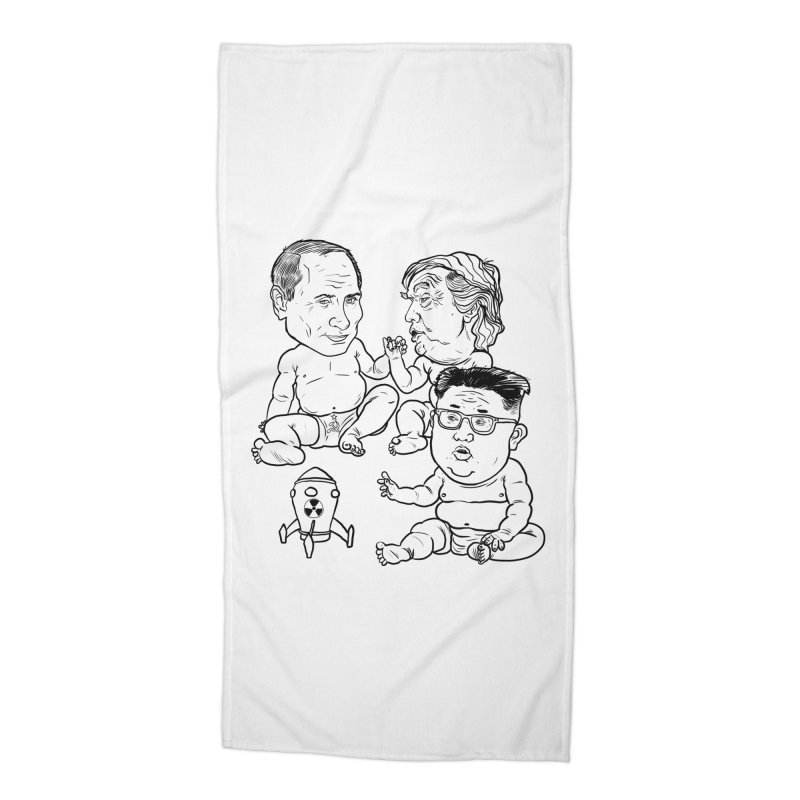 BABIES RUNNING THE WORLD Accessories Beach Towel by Ivan Ehlers' Artist Shop