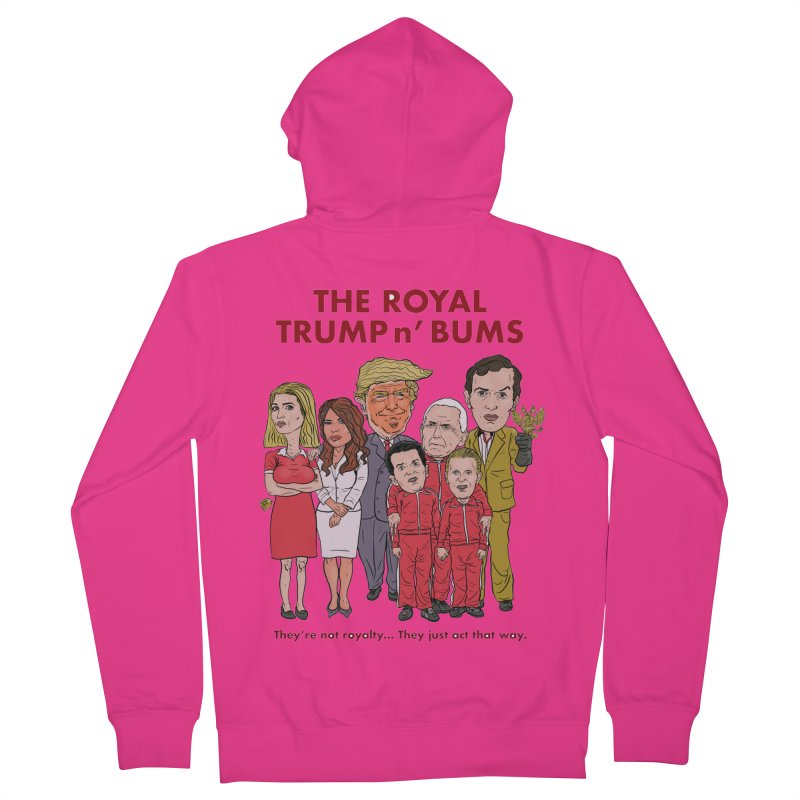 The Royal TRUMP n' BUMS Men's French Terry Zip-Up Hoody by Ivan Ehlers' Artist Shop