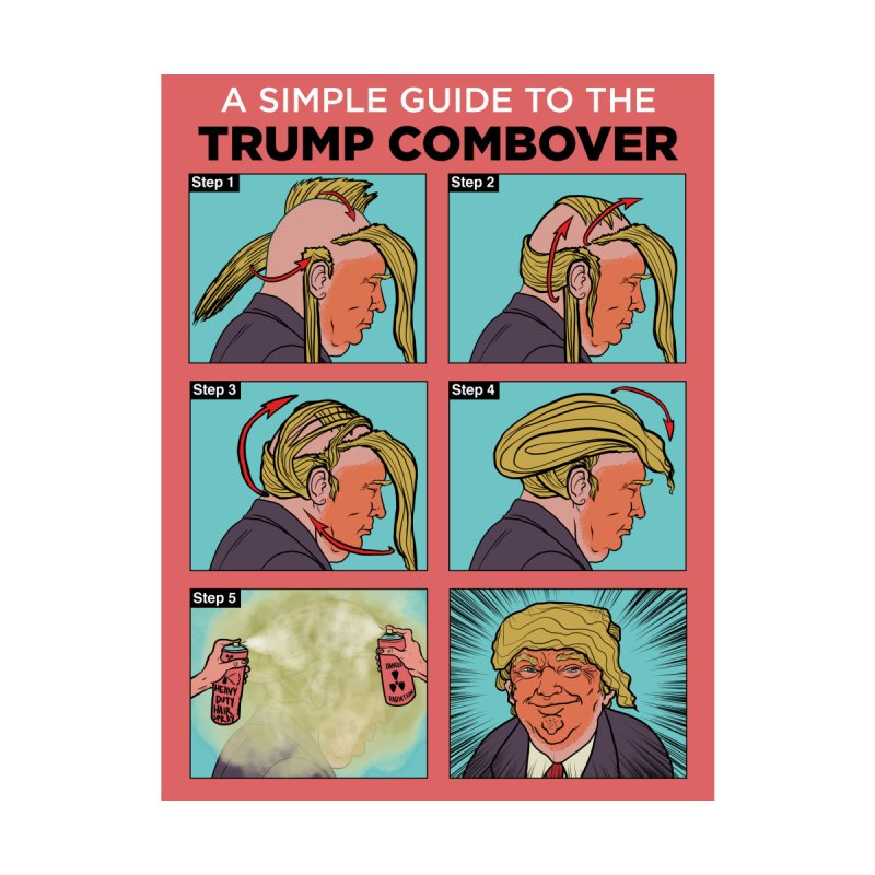 A SIMPLE GUIDE TO THE TRUMP COMBOVER by Ivan Ehlers' Artist Shop