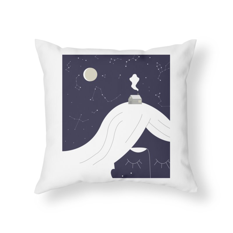 Home Home Throw Pillow by ivvch's Artist Shop