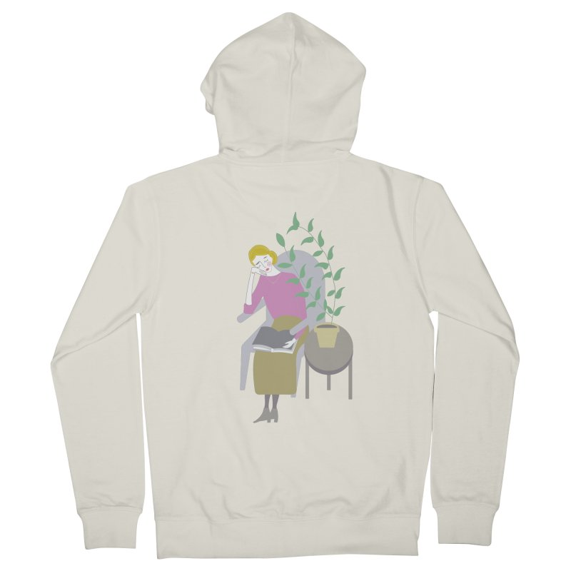 Depression Cherry Women's French Terry Zip-Up Hoody by ivvch's Artist Shop