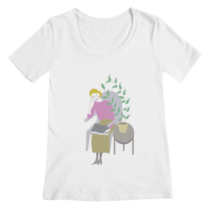 Depression Cherry Women's Regular Scoop Neck by ivvch's Artist Shop