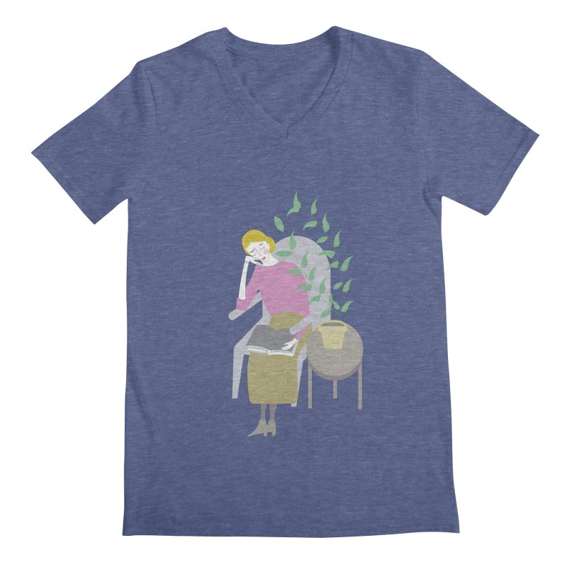 Depression Cherry Men's V-Neck by ivvch's Artist Shop