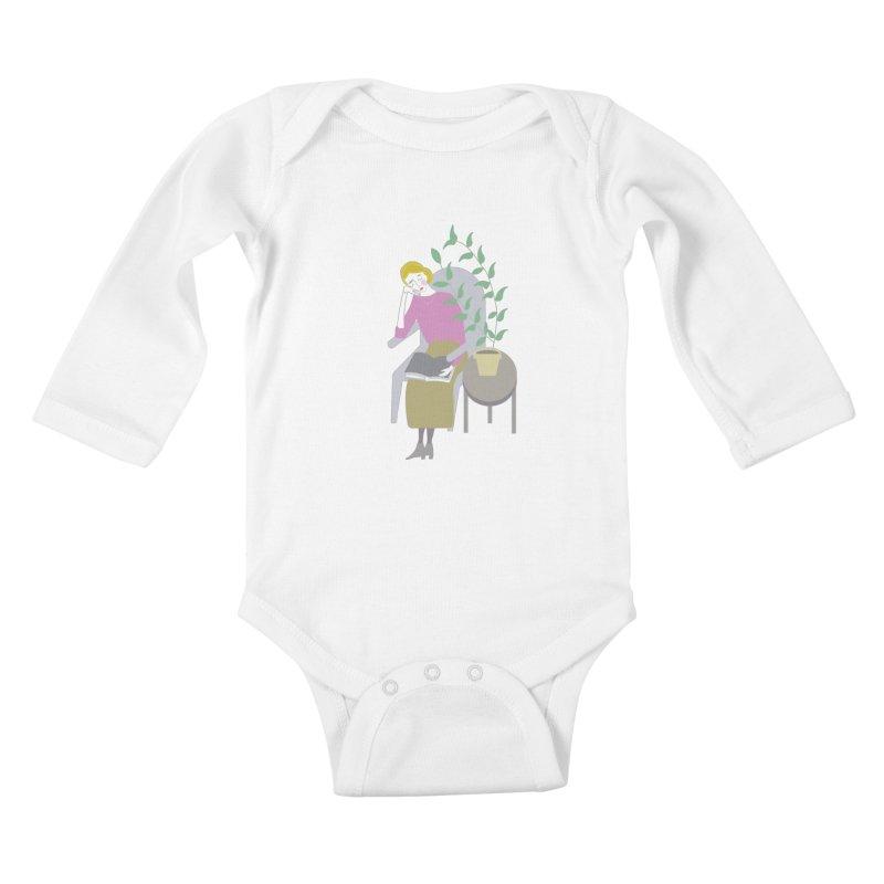Depression Cherry Kids Baby Longsleeve Bodysuit by ivvch's Artist Shop