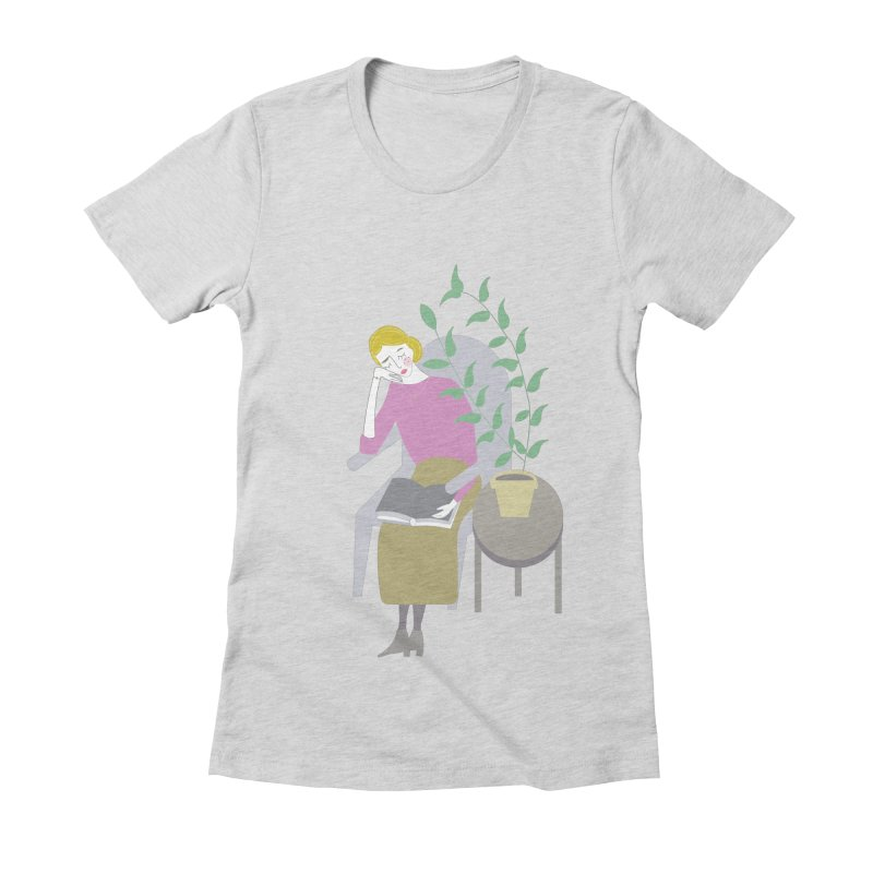 Depression Cherry Women's Fitted T-Shirt by ivvch's Artist Shop