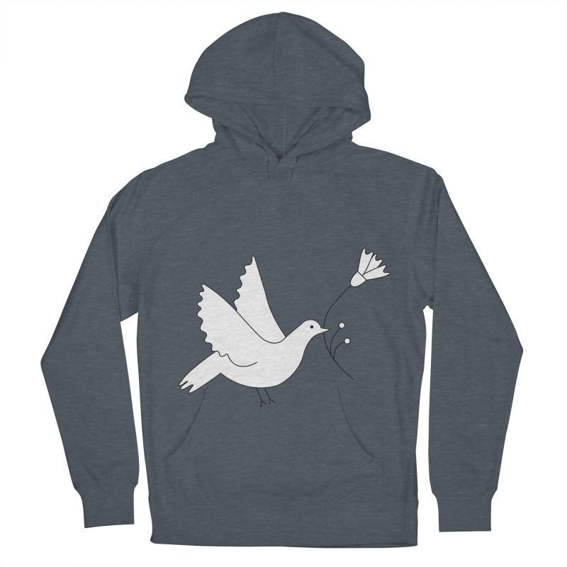 Bird Men's French Terry Pullover Hoody by ivvch's Artist Shop