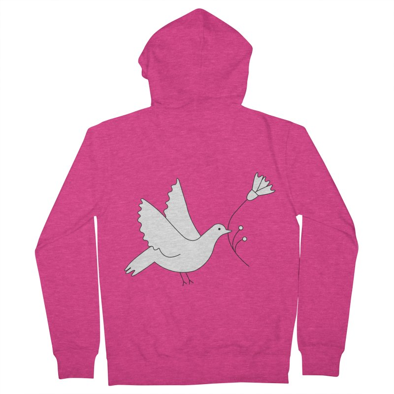 Bird Women's French Terry Zip-Up Hoody by ivvch's Artist Shop