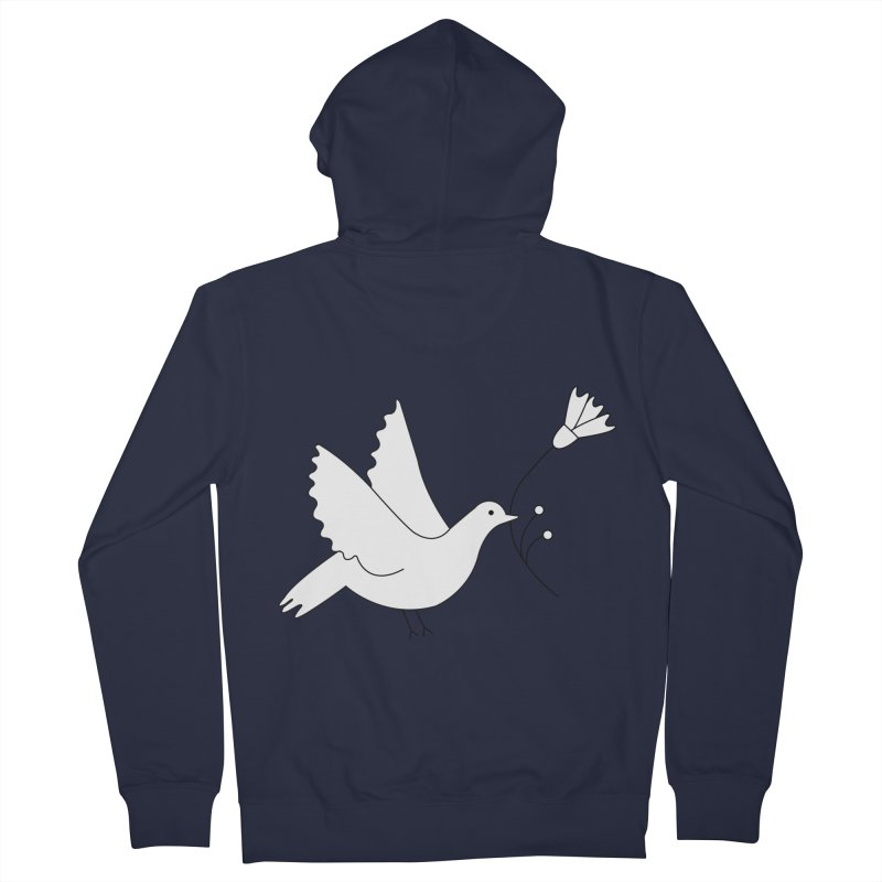 Bird Men's French Terry Zip-Up Hoody by ivvch's Artist Shop
