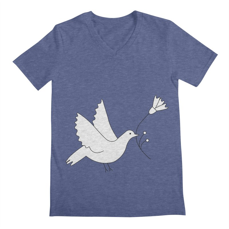 Bird Men's Regular V-Neck by ivvch's Artist Shop