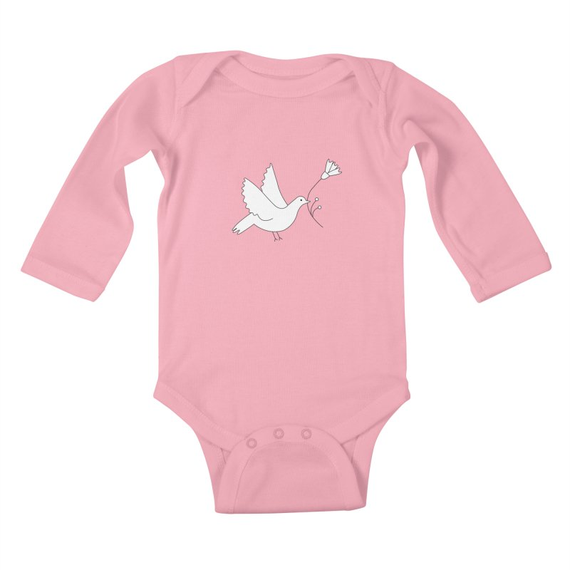 Bird Kids Baby Longsleeve Bodysuit by ivvch's Artist Shop