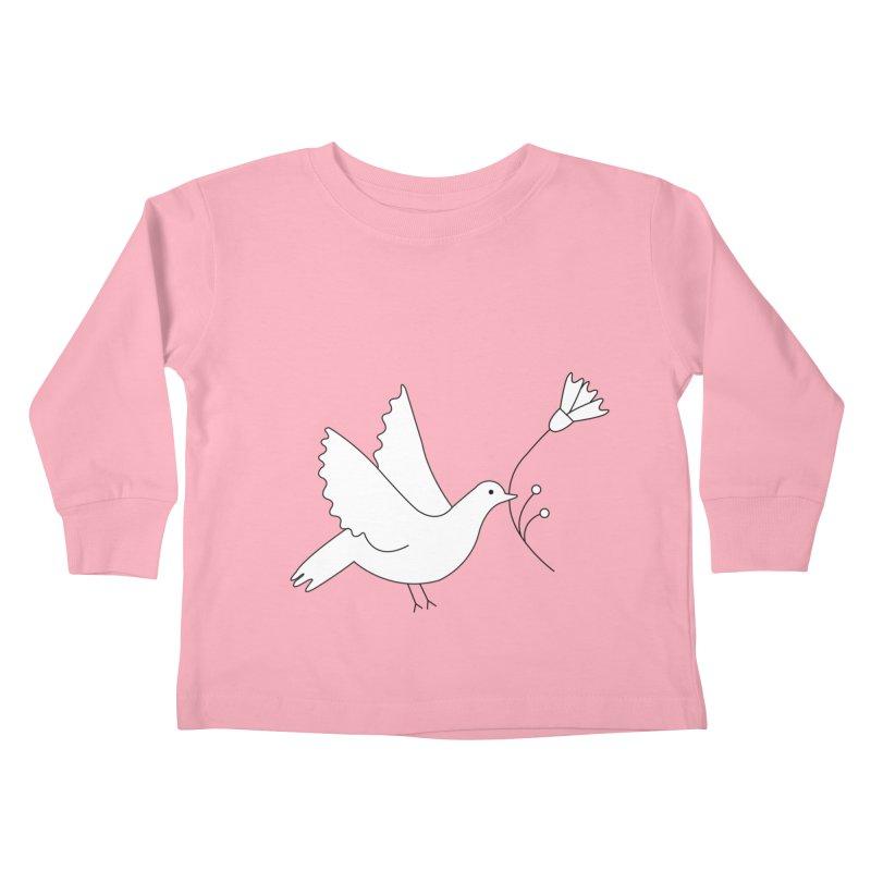 Bird Kids Toddler Longsleeve T-Shirt by ivvch's Artist Shop