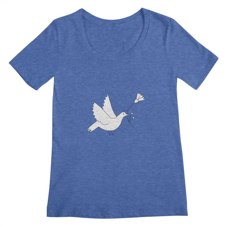 Bird Women's Regular Scoop Neck by ivvch's Artist Shop