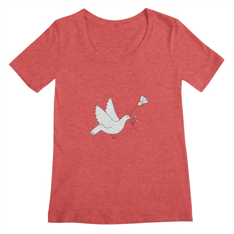 Bird Women's Scoopneck by ivvch's Artist Shop
