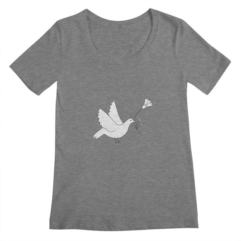 Bird Women's Scoopneck by ivvch's Artist Shop