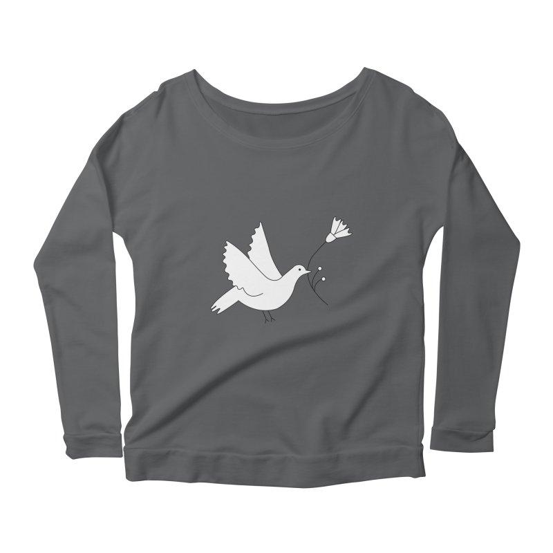 Bird Women's Scoop Neck Longsleeve T-Shirt by ivvch's Artist Shop