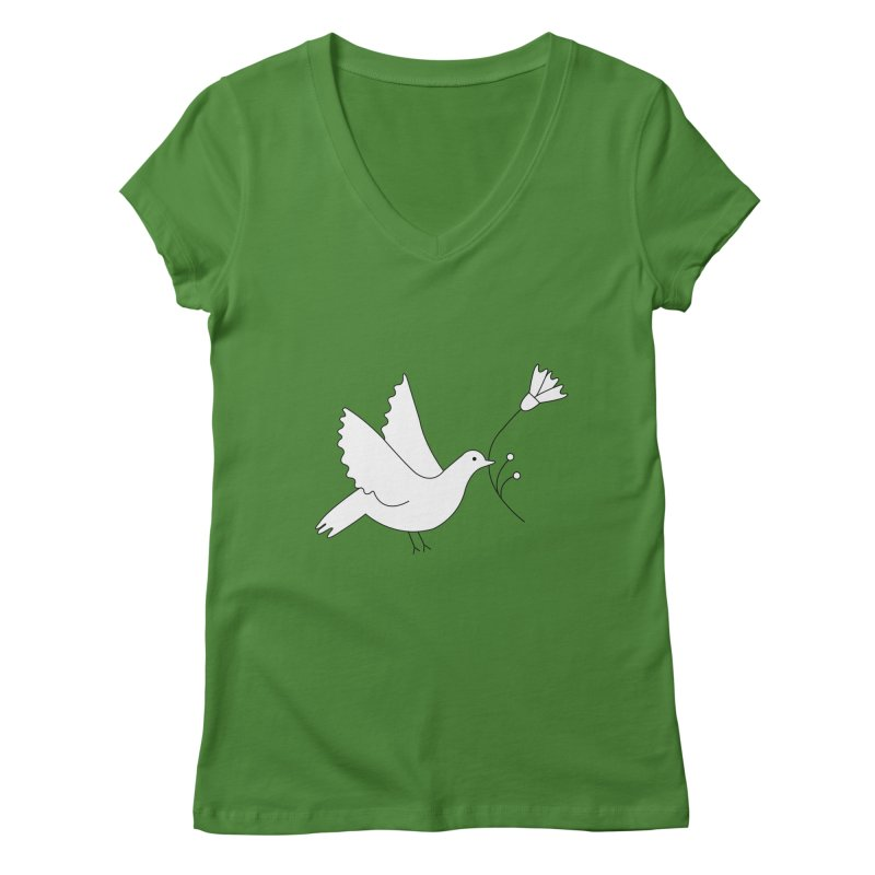 Bird Women's Regular V-Neck by ivvch's Artist Shop