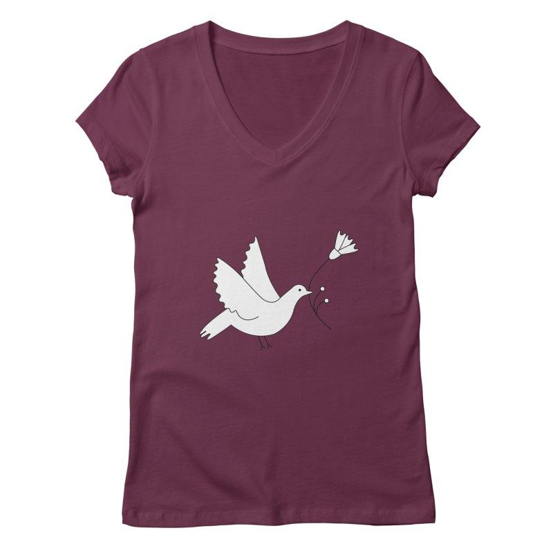 Bird Women's V-Neck by ivvch's Artist Shop