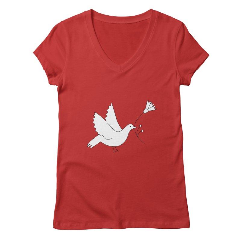 Bird Women's Regular V-Neck by ivvch's Artist Shop