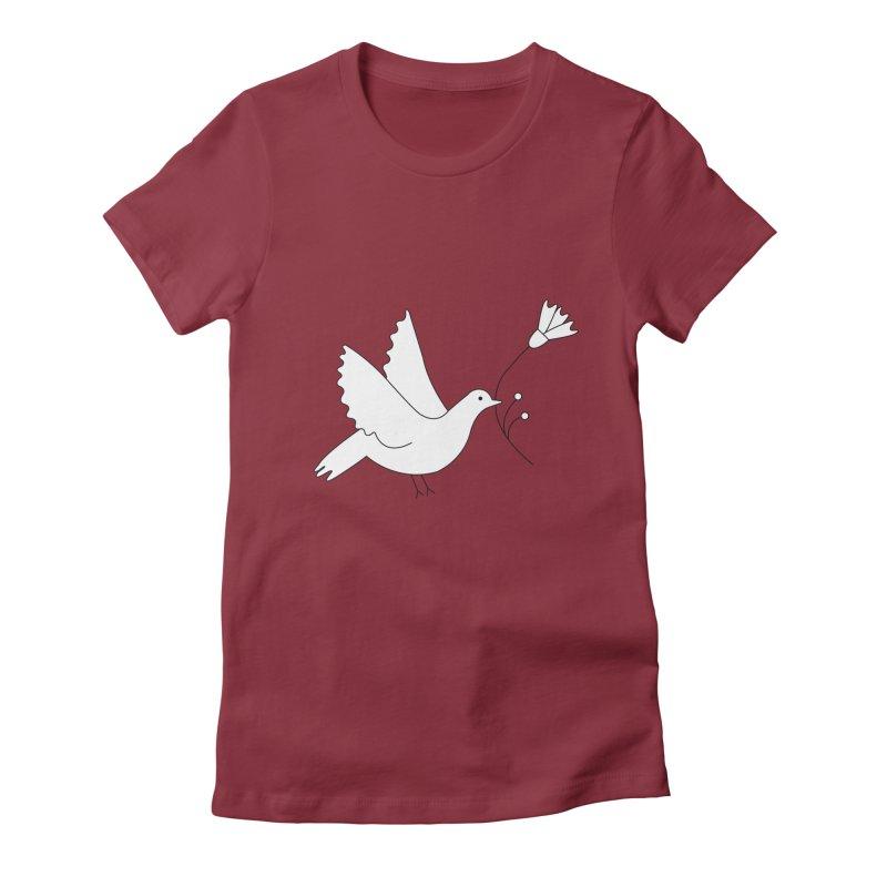 Bird Women's Fitted T-Shirt by ivvch's Artist Shop
