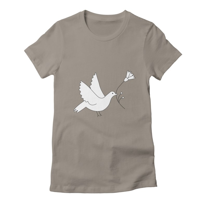 Bird Women's Fitted T-Shirt by ivvch's Artist Shop