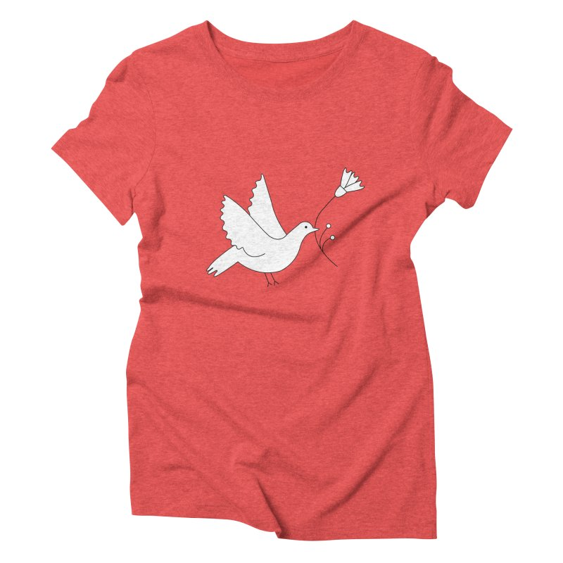 Bird Women's Triblend T-Shirt by ivvch's Artist Shop