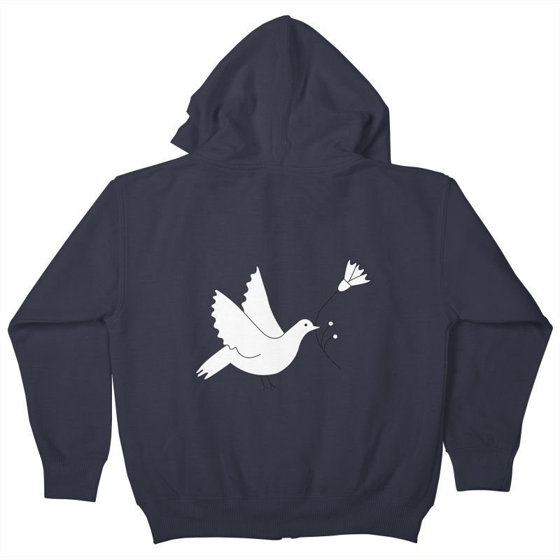 Bird Kids Zip-Up Hoody by ivvch's Artist Shop