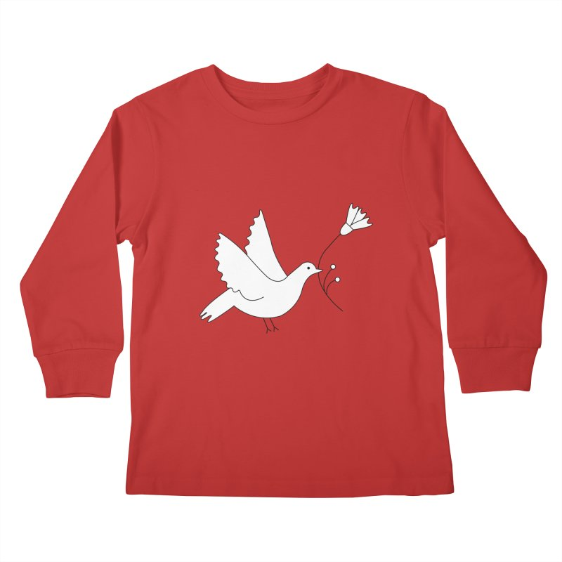 Bird Kids Longsleeve T-Shirt by ivvch's Artist Shop