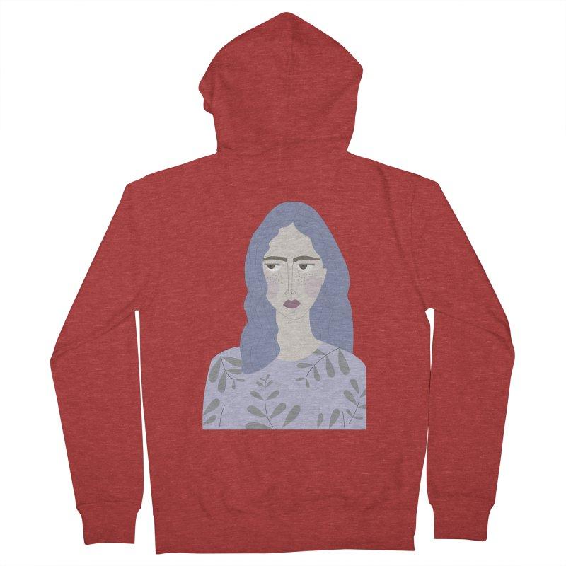 Girl Women's Zip-Up Hoody by ivvch's Artist Shop