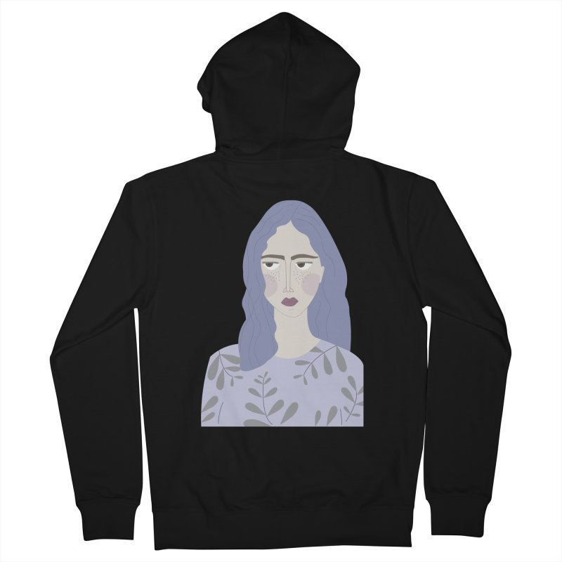 Girl Women's French Terry Zip-Up Hoody by ivvch's Artist Shop