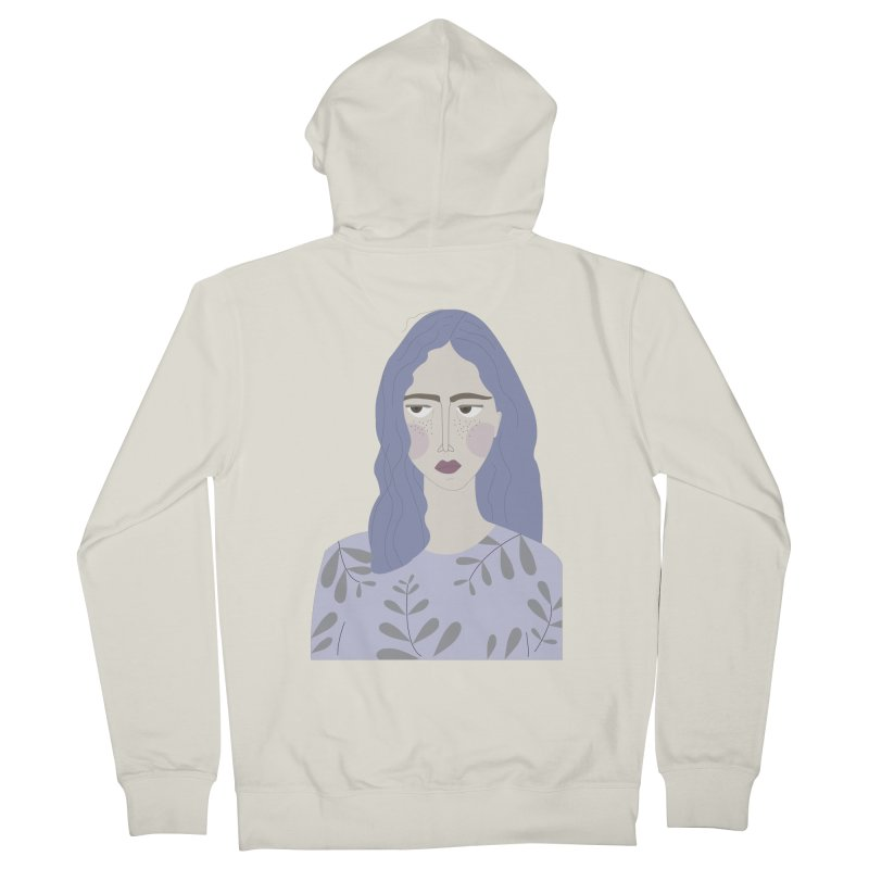 Girl Men's Zip-Up Hoody by ivvch's Artist Shop