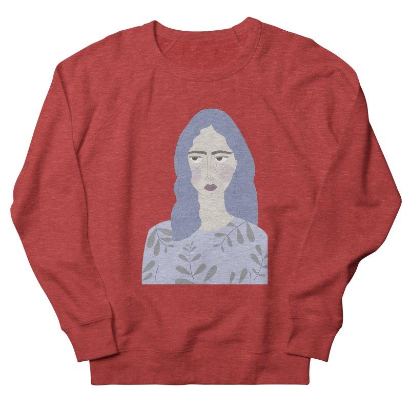 Girl Women's French Terry Sweatshirt by ivvch's Artist Shop