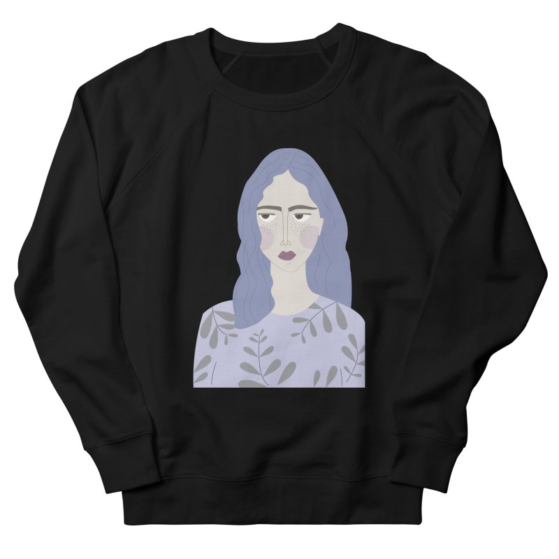 Girl Women's French Terry Sweatshirt by ivvch's Artist Shop