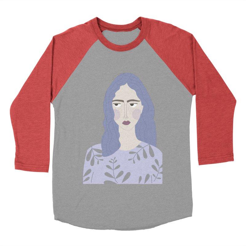 Girl Women's Baseball Triblend T-Shirt by ivvch's Artist Shop
