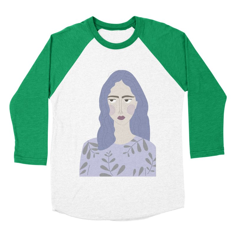Girl Men's Baseball Triblend Longsleeve T-Shirt by ivvch's Artist Shop